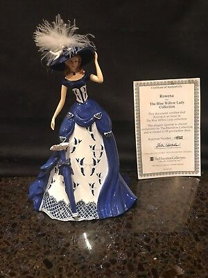 """Rowena"" Figurine From The Hamilton Blue Willow Lady Collection No: 1398H COA"