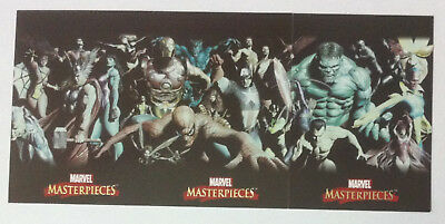 Marvel Masterpieces 2007 Complete 3 Card Alex Ross Chase Set
