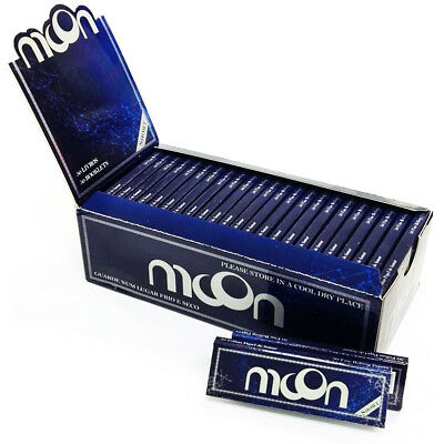 50 booklets New Improved Moon Rice Cigarette Rolling Papers 70*36mm 2500 leaves