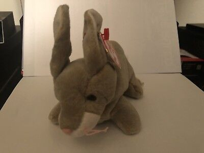 1998 Ty Original Beanie Babies NIBBLY The Bunny Rabbit w/Tags (7 inch)