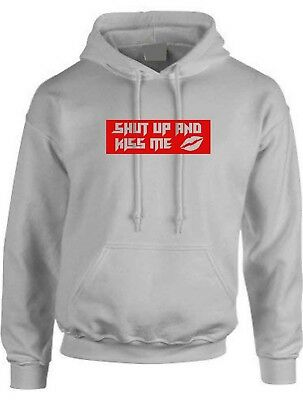 Shut Up and Kiss Me Funny Hipster Jumper Women Unisex Sweatshirt Valentines gift