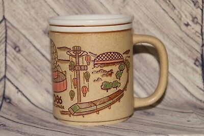 Expo 86 Vancouver Canada Worlds Fair Vintage Embossed Coffee Mug