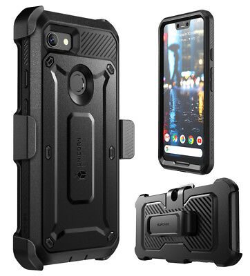 For Google Pixel 3 / 3XL Case, SUPCASE Full-Body Rugged Cover w/Screen Protector