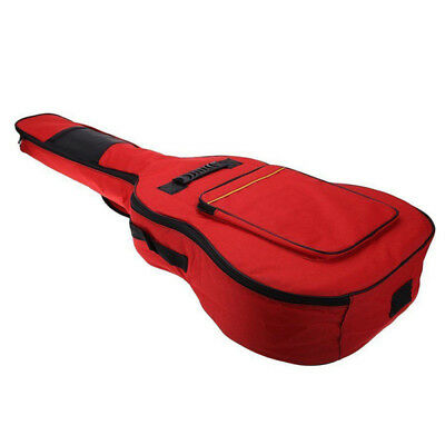 1x 41 Inch Oxford Cloth Sponge Padded Electric Guitar Backpack Gig Bag Case Red