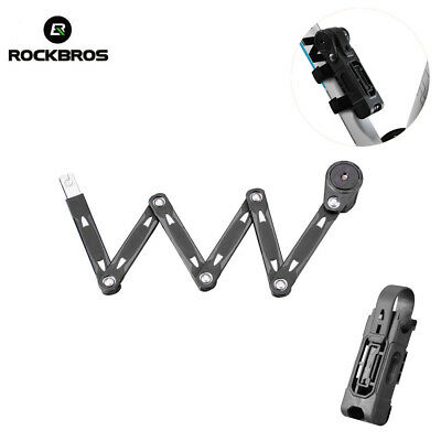 RockBros Bicycle Key Lock Alloy Steel Chain Cable Security Lock 750mm Black