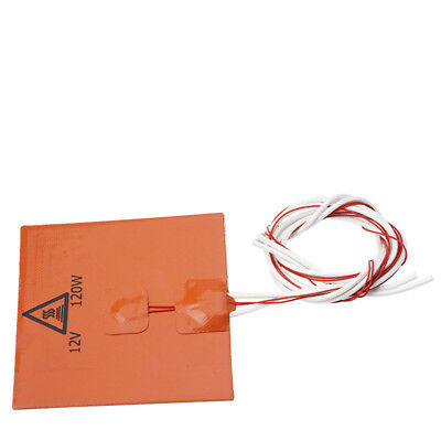 12x12cm 120W 12V Silicone Heater Pad For 3D Printer Heated Bed Heating Mat 1Pcs