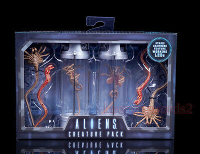 NECA Alien Creature Pack Stasis Chambers Facehugger Chestbuster Action Figure
