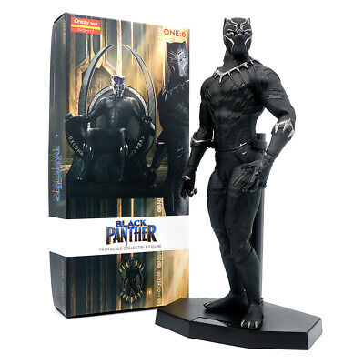 "Crazy Toys Marvel Comics Black Panther 12"" T'Challa Vakanda Action Figure Statue"