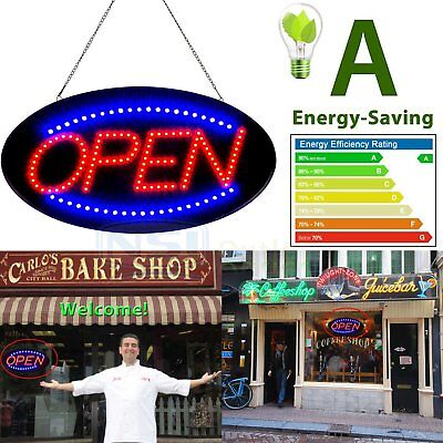 """Bright Animated LED Open Store Shop Business Sign 19x10"""" neon Display Lights EL"""