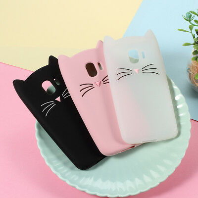 3D Moustache Cat Silicone Protective Case Cover for Samsung Galaxy J2 Pro 2018