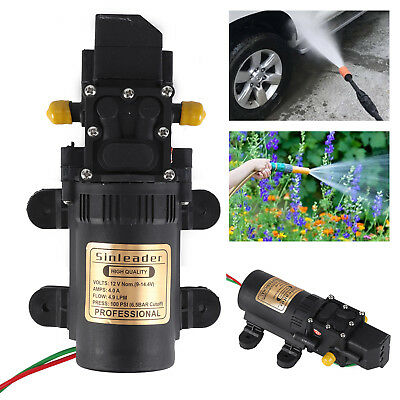 12V 100PSI 5L/Min High Pressure Diaphragm Water Pump For RV Caravan Boat Garden