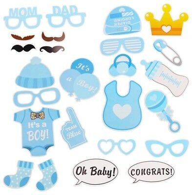 UK Baby Shower Photo Booth Props Little Boy Mister New Born Party Birthday Decor