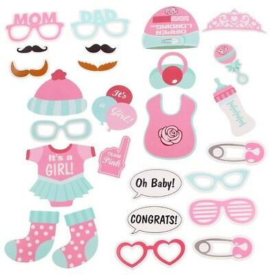 UK Baby Girl Kids Shower Photo Booth Props Mister New Born Party Birthday Decor