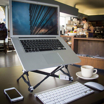 2059 Portable Height Adjustable Folding Stand Bracket For Laptop Notebook MacBoo