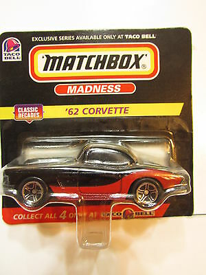 Matchbox Madness 1998 Taco Bell - Classic Decades - '62 Corvette Short Card