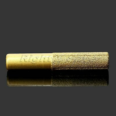 Golden Coated Diamond Grinding Head Stone Polishing Engraving Cylinder Tool
