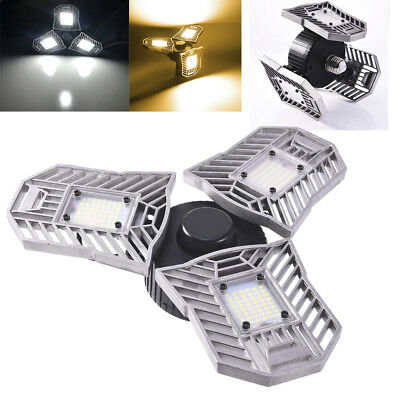 60W Deformable LED High Bay Light Industrial Warehouse Work Mining Fixtures E27