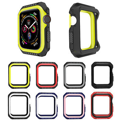 44mm 40mm Dual Colors Cover for Apple Watch Series 4 3 2 1 38mm 42mm Case Bumper