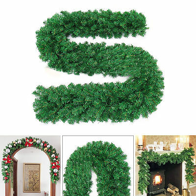 2.7m (9ft) Imperial Pine Christmas Garland Fireplace Wreath XMAS Decoration UK