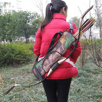Shooting Quiver Bag Arrow Bow Holder Pouch Sport Hunting Case Travel Portable