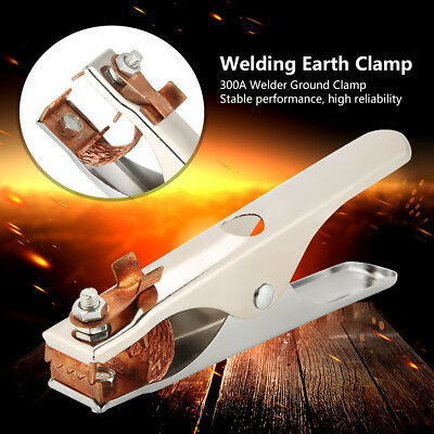 300A Electroplated Ground Clamp Copper Welding Earth Clip for Manual Welder gn