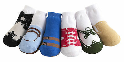 Jazzy Toes Boys Variety Pack-Six Pair Size 0-12 Months Really Cute!