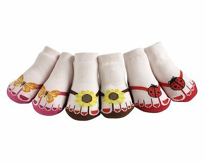 JazzyToes® Little Sunshine Flip Flop Socks-Gift Set of 3-0-12 Months