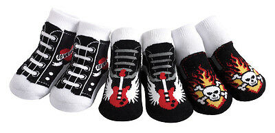 Jazzy Toes Rock'n Sox-Boys-Gift Set-3 Pair-Size 0-12 Months-So Cool!