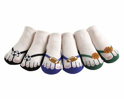JazzyToes® Little Athletes Flip Flop Socks-Gift Set of 3-0 to 12 Months