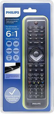 Genuine Philips 6 in 1 Universal Remote Control for TV, STB, Blu-ray, Str,SB,AUX