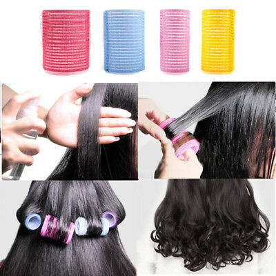 High New 6pcs Large Hair Salon Rollers Curlers Tools-Hairdressing tool Soft DIY