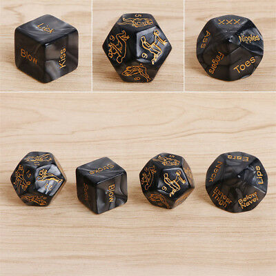 4Pcs/set Sex Game Love Dice Black Sex Position Dice for Couple Foreplay Prop Toy