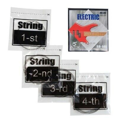 Clearance deal Electric BASS Guitar Set of 4 Strings 40-95 Spock Silver offer