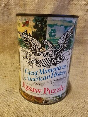 Humble Oil Can Jigsaw Puzzle Sealed 300 Pieces Great Moments in American History