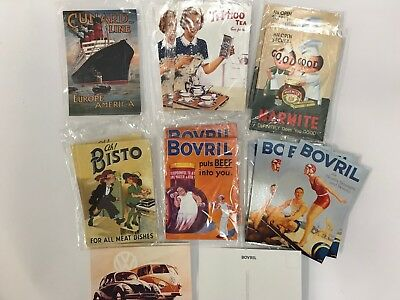 120 Retro Advertising Postcards Job Lot Brand New Includes Bovril and Bisto