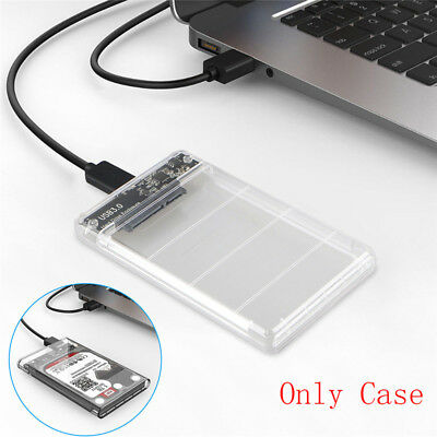 2.5in SATA USB 3.0 HDD Hard Drive External Enclosure SSD Disk Box Case With CRIT