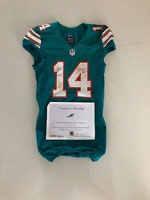 New JARVIS LANDRY MIAMI Dolphins Throwback Game Used Jersey 2016 Panini  hot sale