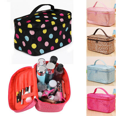 Storage Travel Toiletry Bag Makeup Case Pouch Carry Portable Cosmetic Organizer