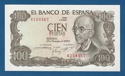 España // Spain -- 100 Pesetas ( 1970 ) -- Unc -- Sin Serie // No Serial .