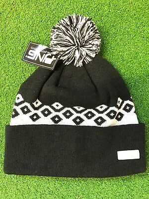 ecdff4522e4 Bnwt Ping Ladies Winter Golf Hat Woolley Hat Knitted Bobble Hat Black N  White
