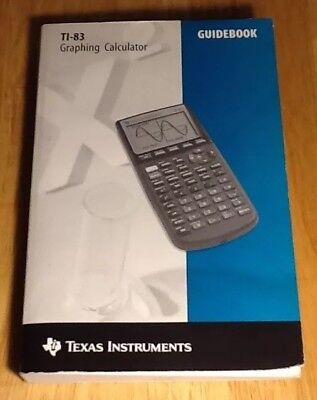 TI-83 Guidebook Instruction Manual Texas Instruments Graphing Calculator 1996 ed
