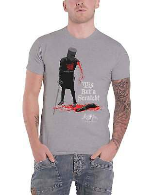 Monty Python T Shirt Holy Grail Tis But A Scratch Movie new Official Mens Grey