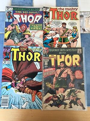 Marvel Comic:  The Mighty Thor Lot 124, 355, 356 & Thor 8