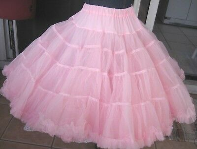 Sams 5-tier 2-layer very full pink crinoline square dance petticoat - 22 long M