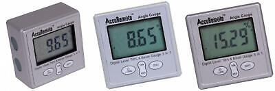 AccuRemote Digital Electronic Magnetic Angle Gage Level / Protractor / Bevel...
