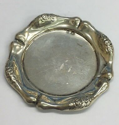 Antique Solid Silver Ashtray French Marked 13.8grams