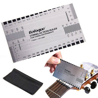 String Action Gauge Ruler Guide Setup Guitar Measuring Luthier Tool Steel Supply