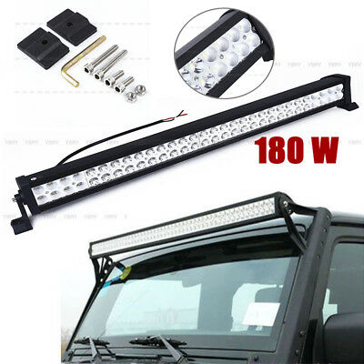 34in 180W LED Work Light Bar Spot Flood lampe Camion SUV Offroad Lampe 12600LM