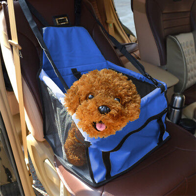 Folding Pet Dog Cat Car Seat Safety Travel Carrier Kennel Puppy Cradle Sided Bag