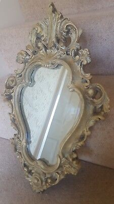 Antique Mid 19th Century French Gilded effect mirror.